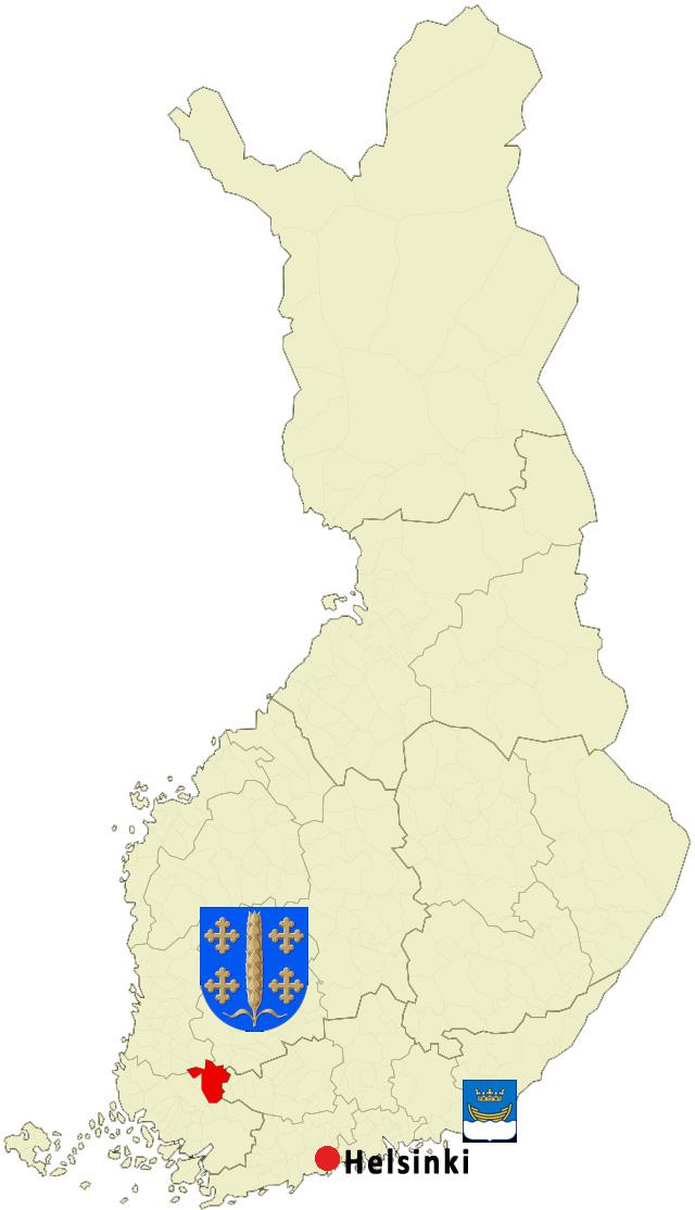 mapa Loimaa